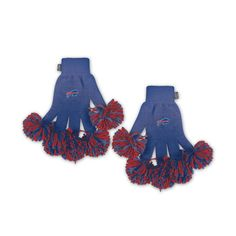Buffalo Bills NFL Spirit Fingerz Embroidered Pom Gloves