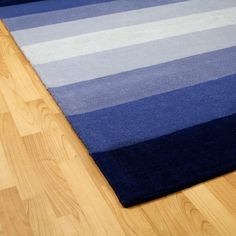 Hand-tufted Blue Stripes Wool Rug (5' x 8')   Overstock.com Shopping - Great Deals on St Croix Trading 5x8 - 6x9 Rugs