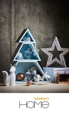 Looking for a stylish way to decorate your home this Christmas? The Sainsbury's Home Snowdrift Collection has a selection of silver, gold and glass baubles, copper tree-toppers and cute wooden stars. Don't stop there, fill your home with the scent of Christmas with tealights and snowdrift pot pourri.