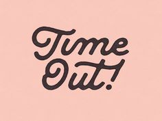 Time Out by Greg Anthony Thomas on Dribbble Retro Typography, Typography Alphabet, Design Typography, Japanese Typography, Design Logo, Creative Typography, Design Poster, Typography Quotes, Typography Inspiration