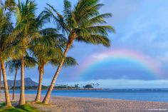 Nothing more beautiful then a rainbow over the Pacific Ocean.