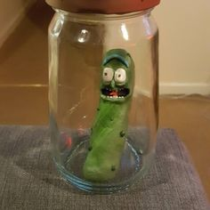 'IM PICKLE RIIIIICK' Pickle rick made from clay. Finished product available for sale soooon!!  www.facebook.com/fatallyprettycrafts www.instgram.com/fatallypretty #picklerick #rickandmorty #rick #wubbalubbadubdub #picklejar #councilofricks #morty #clay