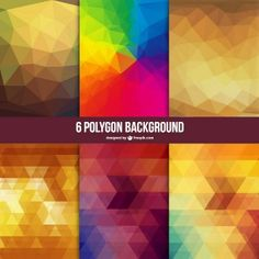 Polygon free vector backgrounds