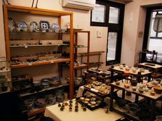 If I was here - and these tiny bonsai pots were for sale - I think I would go broke within the hour Mame Bonsai, Trees To Plant, Tiny Tiny, Ceramics, Pots, Gardening, Container Plants, Tree Planting, Ceramic Art