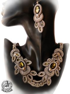 Soutache set in Grey by SoutacheTalia on Etsy, $310.00