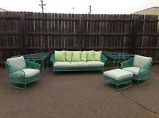 My dream patio set.  Vintage Mid Century Modern Russell Woodard Patio Set Knoll Eames Era