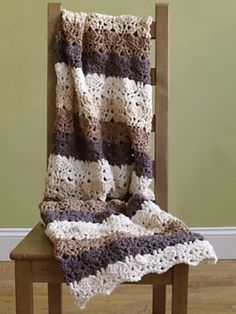Purely Comforting Afghan. Free pattern from Lion Brand Yarns.