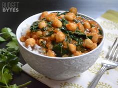 Curried Chickpeas with Spinach - Budget Bytes