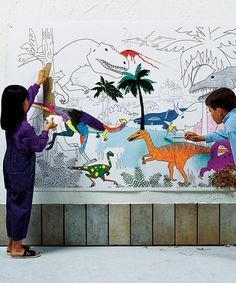 This Dinosaurs 72'' Learning Wall Art by Pacon is perfect! #zulilyfinds