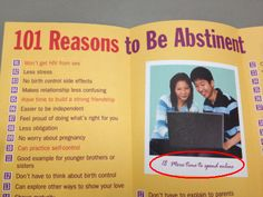 Abstinence pamphlet has the best reason to not have sex photo