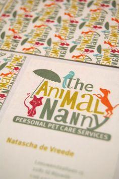The Animal Nanny | Personal Pet Care Services by Marie-Louise de Bruijn, via Behance
