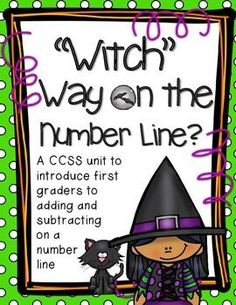 Everything you could possibly need for two weeks of first grade math class is included in this unit. Your students will love meeting Winnie the witch and helping her prepare for Halloween. These lessons are designed to introduce first graders to the problem solving strategies: counting on from larger, using a number line, and relating counting to addition and subtraction.