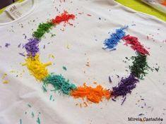La Mireieta: TUTORIAL: Camiseta con crayons