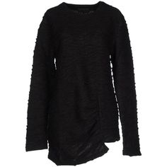 D.gnak By Kang.d Sweater (€61) ❤ liked on Polyvore featuring tops, sweaters, black, lightweight sweaters, long sleeve sweater, acrylic sweater and long sleeve tops