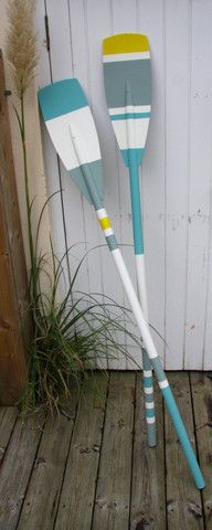 Vintage Oars, painted in Annie Sloan paints. Sourced at www.thelambshed.co.uk