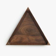 Walnut Triangle Tray | Unison