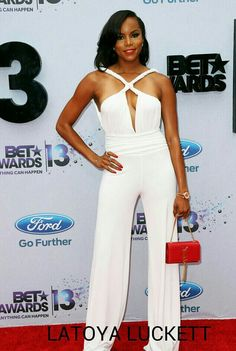 AGAIN! SEN Couture on the Best Dress List  when walked the Red Carpet at BET Award tonight with former Destiny Child Latoya Luckett, a two-time Grammy Award-winning American R singer.   Check out more at: http://m.globalgrind.com/style/2013-bet-awards-best-dressed-mya-gabrielle-douglas-letoya-luckett-photos