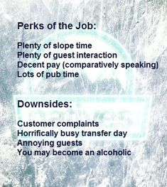 What is required from being a rep Customer Complaints, Travel Jobs, Ski Season, Job Description, Skiing, Seasons, Places, Ski, Seasons Of The Year