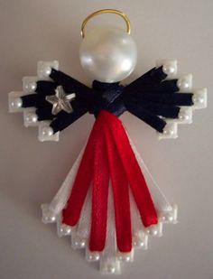 RWB ribbon angel by Judy in WV. Veteran's Day 2014. jh