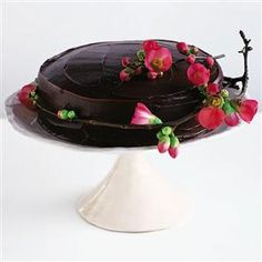 Fabulously simple chocolate fudge cake recipe. This moist and gorgeous cake is so sophisticated it would be welcome at the tea table at any time of year.