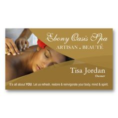 Spa and massage business card template pinterest massage business cheaphphosting Gallery