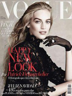cool Vanessa Axente por Patrick Demarchelier para Vogue Espanha Dezembro 2014  [Capa]