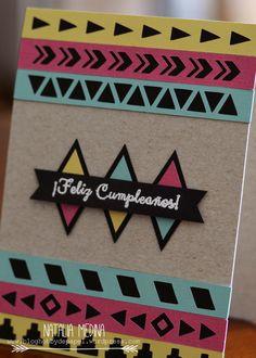 Tarjeta tribal cumpleaños hobby de papel 2