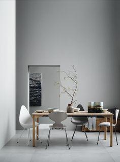 Fritz Hansen Grand Prix table - via Coco Lapine Design blog