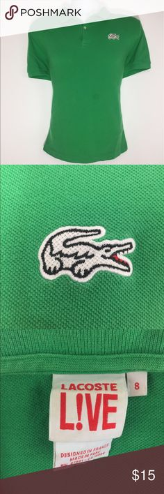 Spotted while shopping on Poshmark: Lacoste Live Polo Size 8 Green Alligator Mens! #poshmark #fashion #shopping #style #Lacoste #Other
