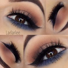 """""""Neutrals and Navy @larlarlee @larlarlee used the 35B for this stunning look! The lower lash line makes it ideal for nighttime and the neutral tones…"""""""