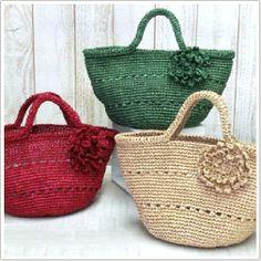 AMU-186 コサージュ付きミニバッグ - free Japanese crochet bag pattern with universal crochet diagrams.