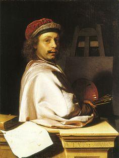 Frans van Mieris the Elder, 1667 - - - Self-portrait as a painter