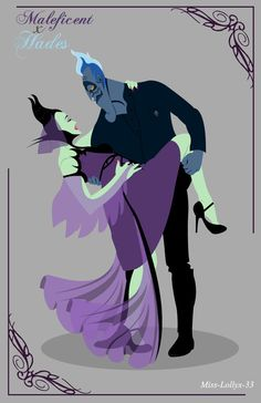 Maleficent & Hades by Justine Lannuzel [©2013-2014 miss-lollyx-33]