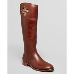 dc8e3ebb7c4 Tory Burch Riding Boots - Kiernan Flat ( 347) ❤ liked on Polyvore featuring  shoes