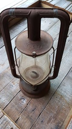 Dietz Lantern Rusted Hy-Lo New York Kerosene Vintage Antique Collectible