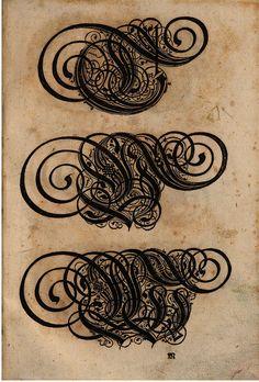 Paulus Franck - 'Schatzkammer Allerhand Versalien Lateinisch vnnd Teutsch', 1601 alphabet e by peacay, via Flickr