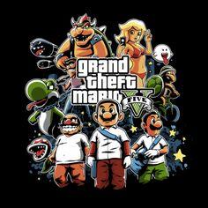 #gta #mario #nintendo #gaming #tshirt