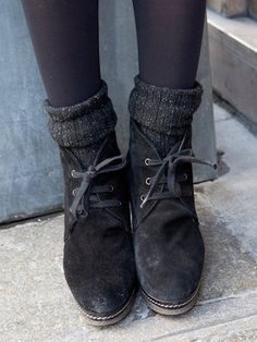 Tights, socks and boots. Neat!