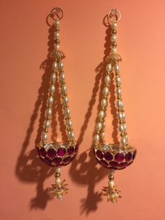 Set of Two Pink Hangings