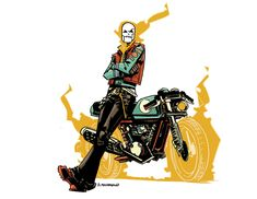 Andy MacDonald's Ghost Rider redesign
