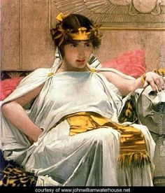 Cleopatra  651888 - John William Waterhouse - www.johnwilliamwaterhouse.net