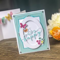 Bloomin' Cute Floral Baskets » Paper Suite Butterfly Kit, Butterfly Stencil, Butterfly Cards, Paper Crafts, Diy Crafts, Shaped Cards, Happy Saturday, Pattern Paper, Color Pop