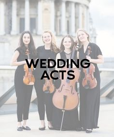 Wedding entertainment for your important day! Choose between reception acts or ceremony acts, etc.