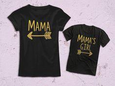 Mama o hija de chica juego mamá de mamá traje, mamá o mi ropa, regalo de día de la madre, camiseta madre o hija
