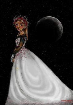 Cinder from The Lunar Chronicles. Art by Julie Crowell