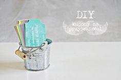 DIY kupony na przyjemności - prezent Creme, Cuff Bracelets, Place Cards, Place Card Holders, Diy, Silver, Jewelry, Jewlery, Bricolage