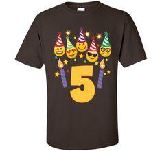 Emoji Birthday Shirt For 5 Five Year Old Girl Boy Toddler shirt