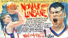 Novak goes linsane! NY Knicks linsanity @Joe Petruccio February 2012.
