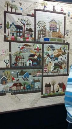 New Ideas For Patchwork Quilt Blocks Appliques House Quilt Patterns, House Quilt Block, Patchwork Quilt Patterns, House Quilts, Applique Quilts, Quilt Blocks, Colchas Quilting, Quilting Projects, Small Quilts