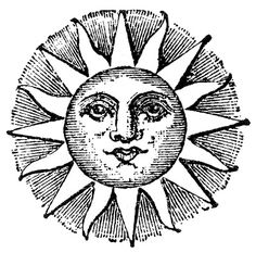 Vintage Clip Art - Old Fashioned Sun with Face - The Graphics Fairy - ClipArt Best Graphics Fairy, Sun Drawing, Sun Illustration, Face Images, Sun Moon Stars, Sun Art, Vintage Images, Vintage Clip Art, Vintage Drawing